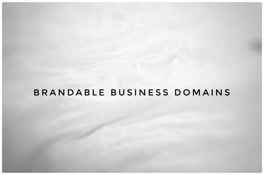 Brandable Domain names